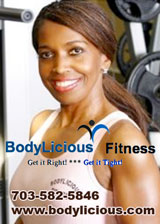 Bodylicious Fitness, Lorton, Virginia, call 703-582-5846